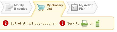Print grocery lists