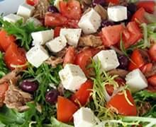 Tomato and Endive Salad with Tuna