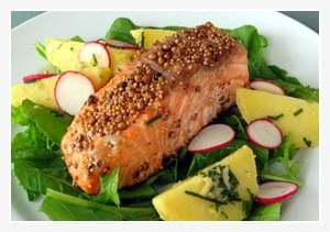 Salmon with a Spicy Crust