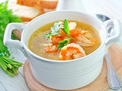 Zuppa di maiale e gamberetti