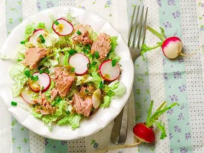 Salade de thon et chou