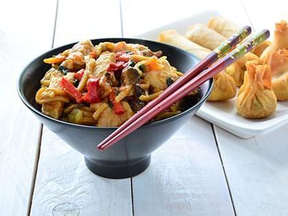 Chow mein al pollo