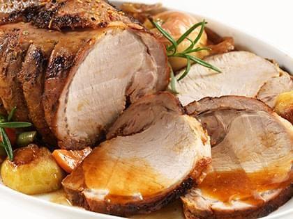 Arrosto di maiale brasato con verdure