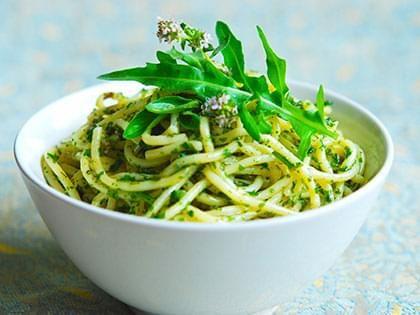 Pasta with Arugula Pesto