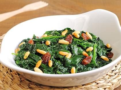 Spinach with Raisins