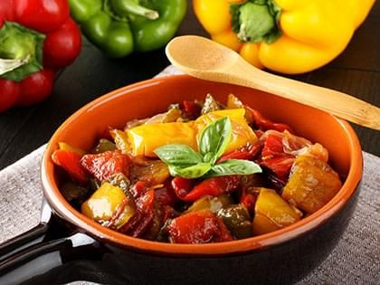 Red Pepper Ratatouille