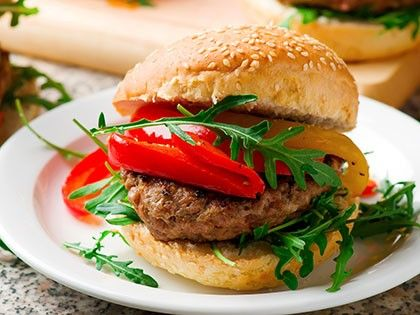 Veal Burger with Goat Cheese