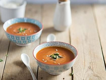 Silky Smooth Roasted Pepper Soup