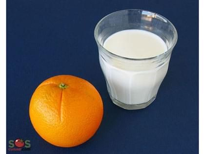 Lait et orange