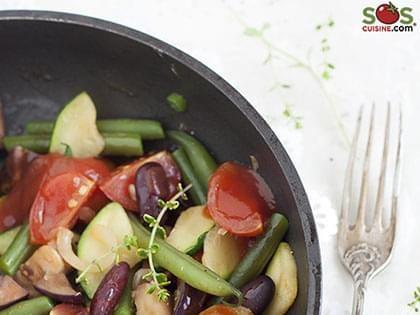 Ratatouille de légumes et haricots