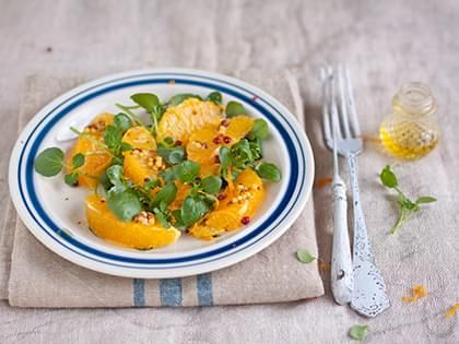 Salade de cresson à l'orange