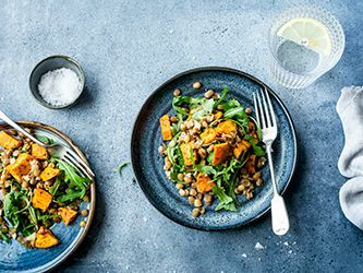 Sweet Potatoes and Lentil Salad