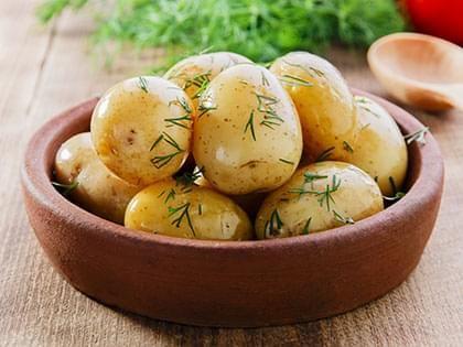 Pommes de terre grelot à la ciboulette