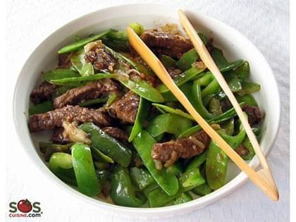 Manzo cinese con taccole