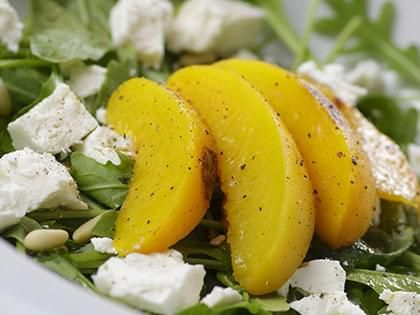 Peach, Arugula and Chèvre Salad