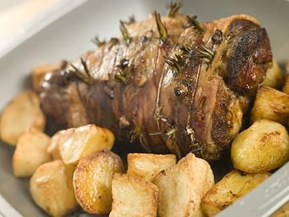 Slow-cooked Roast Leg of Lamb