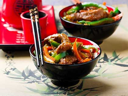 Ginger-Flavoured Beef and Vegetable Stir-Fry