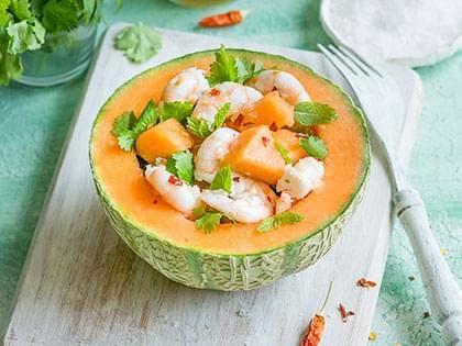 Shrimp and Melon Salad à la Thai