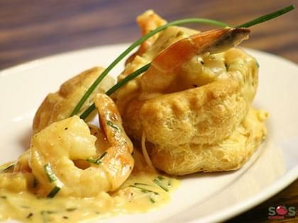 Seafood in a Puff Pastry Shell