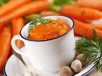 Purée de carottes à l'orange