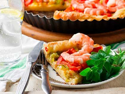 Shrimp and Leek Savory Pie
