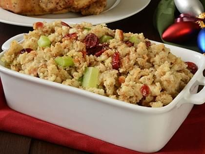 Season Stuffing with Apples and Cranberries