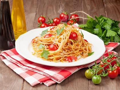 Spaghettini with Mini-Tomatoes