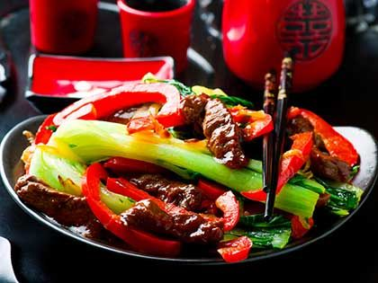 Beef, Pepper, and Bok-Choy Stir-Fry