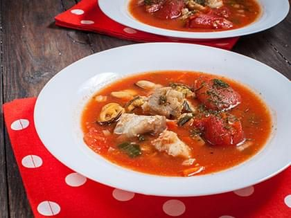 Italian-Style Fish and Seafood Soup