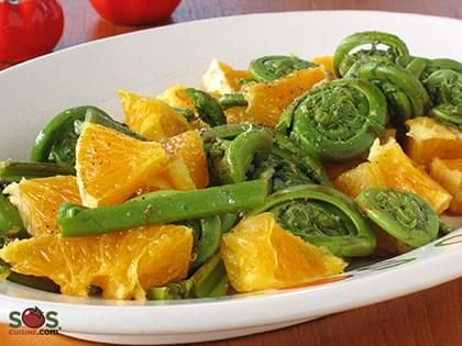 Fiddlehead and Orange Salad