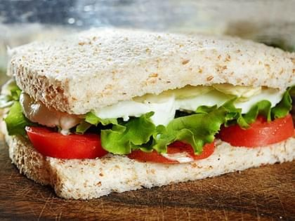 Tofu and Fresh Mozzarella Sandwich