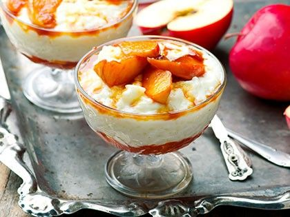Coconut Rice Pudding with Caramelized Apples