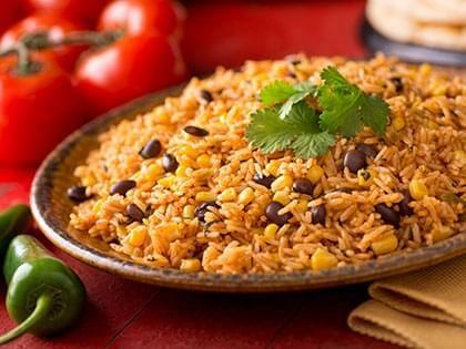 Riz mexicain aux haricots