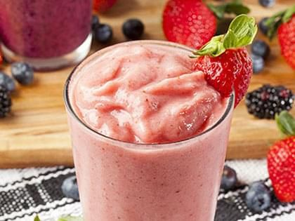 Strawberry-Banana Smoothie with Tofu