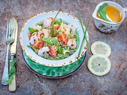Shrimp and Arugula Quinoa Salad