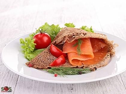 Buckwheat Pancake with Smoked Salmon