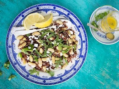 Salade de quinoa rouge et flageolets