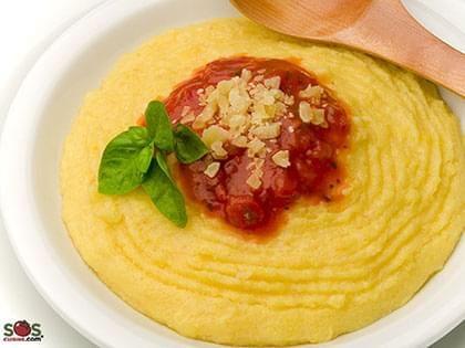 Polenta with Tomato Sauce