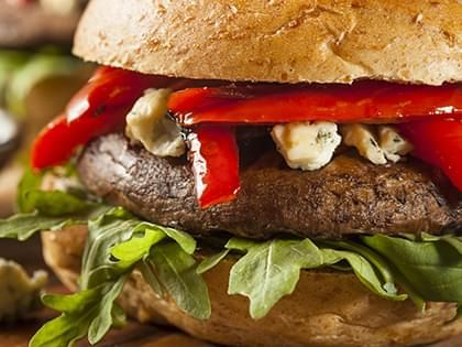 Vegetarian Portobello Mushroom Burger