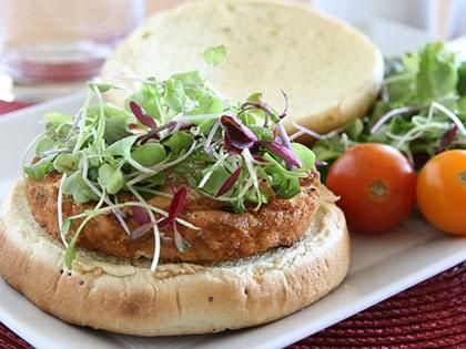 Fish Burger with Lemony Mayonnaise