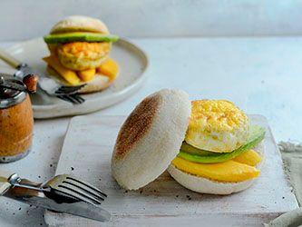 Sandwich-déjeuner à l'oeuf