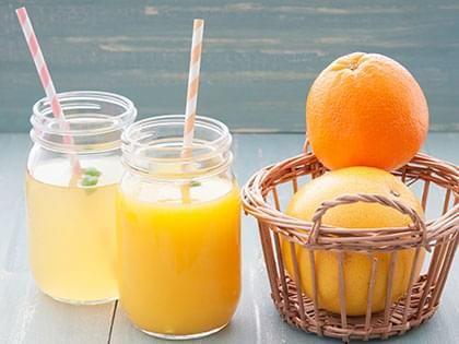 Boisson pour sportifs à l'orange