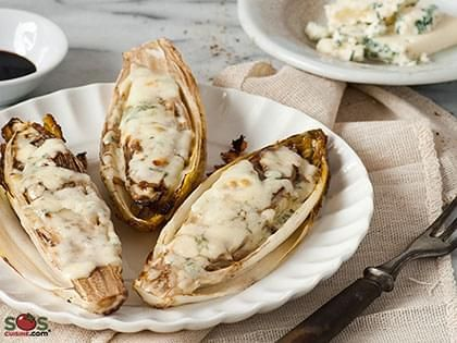 Cheese-Topped Belgian Endive