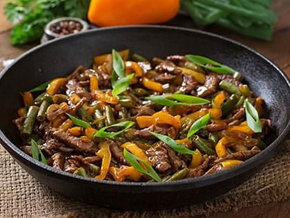 Orange Beef and Vegetable Stir-Fry