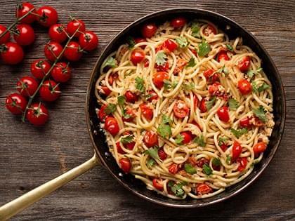 Spaghetti with Snow Crab