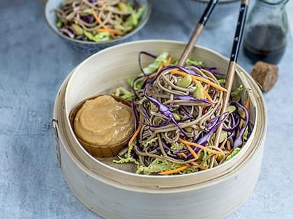 Soba Noodles Salad with Peanut Sauce
