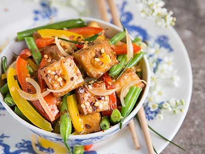 Orange Tofu and Vegetable Stir-Fry