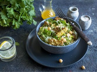 Tempeh, Chickpea and Couscous Salad
