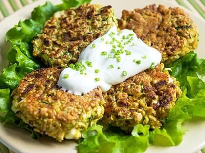 Galettes végé au quinoa
