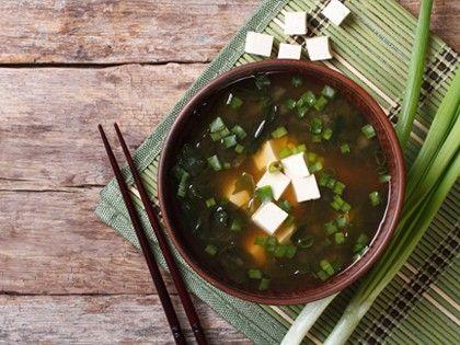 Miso Broth with Seaweed and Tofu